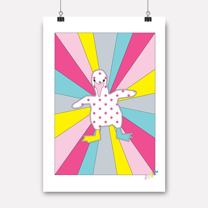 plakat flamingobaby